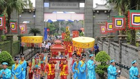 A ceremony commemorating the death anniversary of Hung Kings in Ho Chi Minh City in 2017 (Source: VNA)