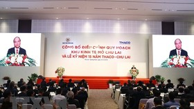 Prime Minister Nguyen Xuan Phuc speaks at the ceremony to announce the expansion of the Chu Lai Open Economic Zone in Quang Nam on December 16. (Photo: VNA)