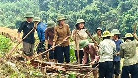 A scene in the film Truyen Thuyet Quan Tien (The Legend of Quan Tien)