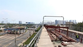 Construction of Metro Line No.1 in HCM City between Ben Thanh market in District 1 and Suoi Tien tourism park in District 9. (Photo: VNA)