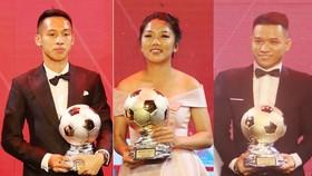 Players Hung Dung ( L), Huynh Nhu (c ) and Tran Van Vu