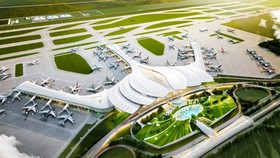 A 3D mock-up of Long Thanh International Airport
