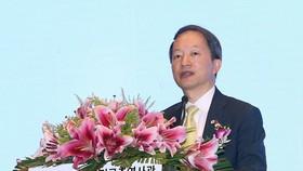 The RoK's Consul General in Da Nang Ahn Min-sik addresses the ceremony on November 6 (Photo: VNA)