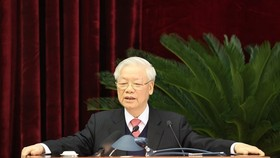 Party General Secretary and State President Nguyen Phu Trong delivers the closing speech on December 18 (Photo: VNA)
