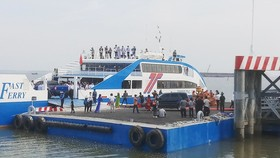 The ferry service linking HCMC's Can Gio District and neighboring Vung Tau City is put into operation. (Photo: SGGP)
