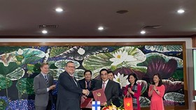 The signing of the bilateral Framework Agreement on the use of Public Sector Investment Facility (PIF) between Vietnam and Finland takes place on January 21. (Photo: Embassy of Finland in Hanoi)