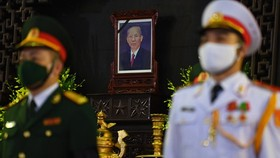 A State funeral for former Deputy Prime Minister Truong Vinh Trong is held in Hanoi. (Photo: SGGP)