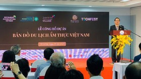 At the announcement ceremony of the Vietnam Food Travel Map project  (Photo: SGGP)