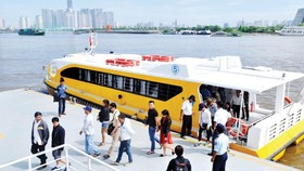 HCMC's river bus route (Photo: SGGP)