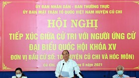 State President Nguyen Xuan Phuc speaks at the conference (Photo: VNA)