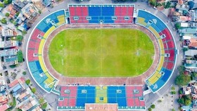 Quang Ninh's Cam Pha stadium is improved to serve the 31st SEA Games (Photo: VNA)