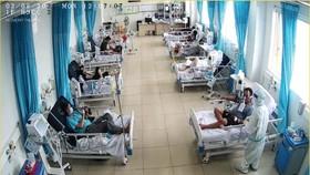 Patients at a Covid-19 Treatment Facility