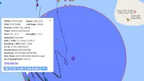 Vị trí 2 con tàu va chạm làm tàu cá bị chìm