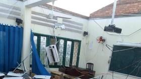 Sử dụng Quỹ phòng chống thiên tai, lụt bão để khắc phục sự cố tốc mái tại Trường Bình Phú
