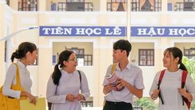 Học sinh Trường THPT Thạnh An, Cần Giờ năm học 2018-2019. Ảnh: HOÀNG HÙNG