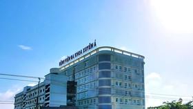 Bệnh viện Đa khoa Xuyên Á Vĩnh Long, test khẳng định 2 người dự đám tang mắc Covid-19. Ảnh: TÍN HUY