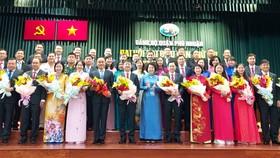 Đồng chí Tô Thị Bích Châu, Chủ tịch Ủy ban MTTQ Việt Nam TPHCM chúc mừng Ban Chấp hành quận Phú Nhuận nhiệm kỳ 2020 – 2025.