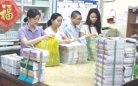 """市華語成人教育中心去年響應""""捐贈書籍""""活動。"""