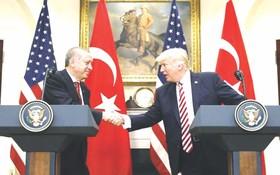 土總統埃爾多安和特朗普舉行聯合記者招待會。(互聯網)