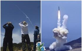 美國民眾目擊攔截導彈升空情形。(圖源:互聯網)