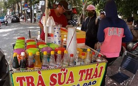 路邊攤銷售的珍珠奶茶大部分使用來歷不明的原料。