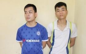被抓捕歸案的2名嫌犯范玉山和阮進松。(圖源:清化市公安廳提供)