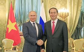國家主席陳大光與普京總統會談。(圖源:互聯網)