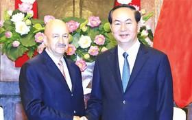 國家主席陳大光接見墨西哥前總統卡洛斯。