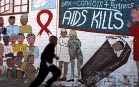 南非愛滋病感染者突破 700 萬。圖為南非街頭壁畫提醒人們防範愛滋病。(圖源:互聯網)