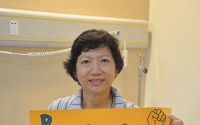病情好轉的博惠芳很樂意跟其他癌症患者分享抗癌心得。