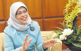新加坡國會議長哈莉瑪宣布,將參與於9月進行的總統選舉。(圖源:互聯網)
