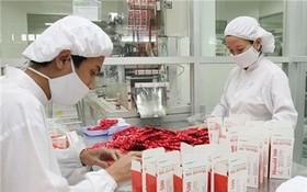 圖為藥品包裝工段。