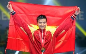 武成安被選為東運會開幕式上越南體育團的旗手。(圖源:互聯網)