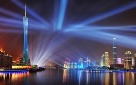 廣州夜景一瞥。(示意圖源:互聯網)