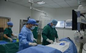 微創治療室(介入治療手術中)。