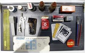 該博物館內的163箱珍貴藏品從破案工具、法醫物證,到辛普森殺妻案、碎木機滅屍案等經典案例一隅。(圖源:互聯網)