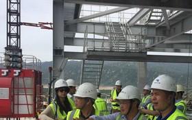 中國銀行服務永新一期火電站項目建設現場。