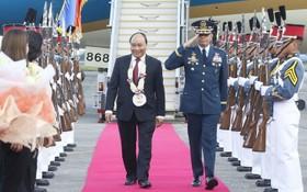 阮春福總理抵達菲律賓克拉克國際機場。