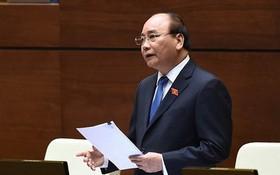 政府總理阮春福答詢。(圖源:VGP)