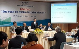 國家財監委員會在研討會上公佈了2017金融市場總觀報告。(圖源:Vietnamnet)