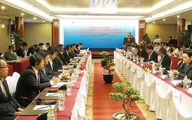 """圖為本市日前舉行的""""市政府與日本商會之間圓桌會議""""現場一瞥。"""