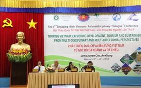 """圖為在東川市舉辦的第九次安江省""""從多部門與多方向角度持久穩固發展越南旅遊業""""研討會現場一瞥。"""