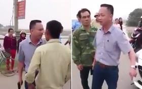 司機蘇光義(短袖襯衫者)持手槍威脅眾人。(拼圖/圖源:視頻截圖)