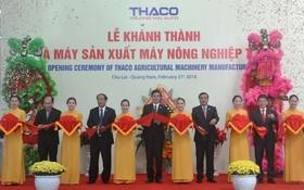 圖為THACO 農業機生產廠房落成剪綵儀式。
