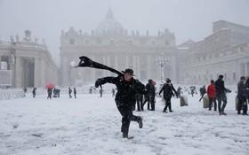 意大利羅馬迎來大雪。(圖源:路透社)