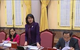 國家副主席鄧氏玉盛在會議上發表指導意見。(圖源:視頻截圖)