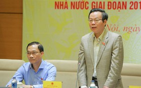 國會副主席、國會監察團長馮國顯主持會議並發表講話。(圖源:陽江)