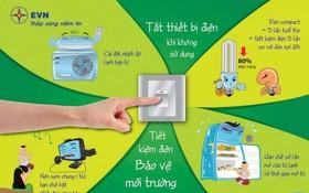 圖為EVN呼籲民眾響應節省用電的宣傳海報。