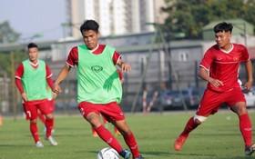 越南U19隊在訓練中。