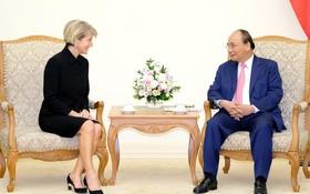 政府總理阮春福接見澳洲外長畢曉普。